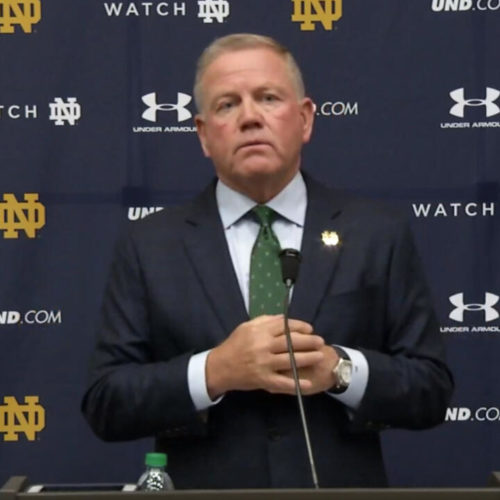 Notre Dame Football Coach Brian Kelly Press Conference