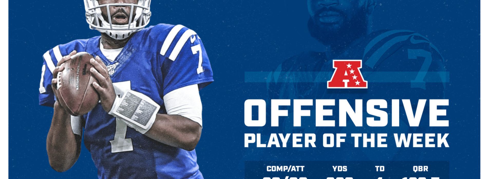 COLTS QB-JACOBY BRISSETT NAMED AFC OFFENSIVE PLAYER OF THE WEEK