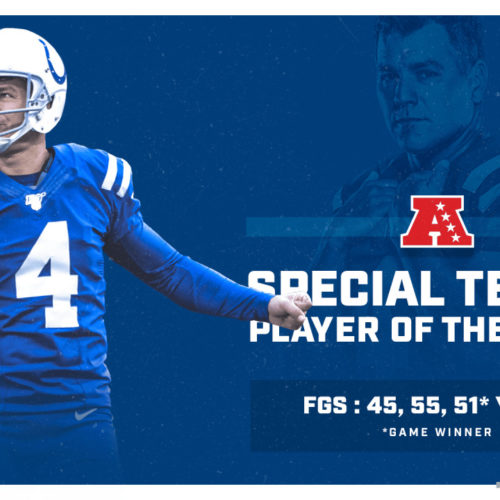 Adam Vinatieri Named AFC Special Teams Player Of The Week