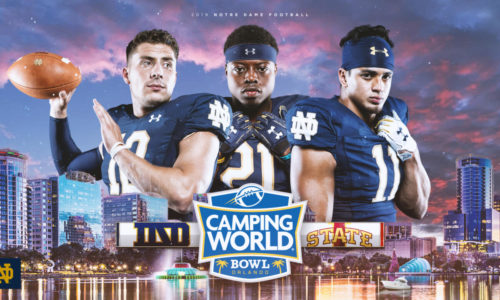 IRISH TO SEEK ELEVENTH WIN AGAINST IOWA STATE IN CAMPING WORLD BOWL