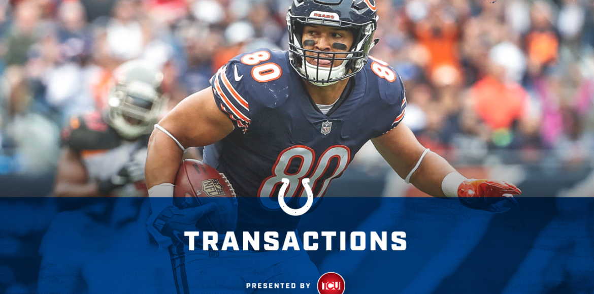 Colts Sign Free Agent Tight End Trey Burton