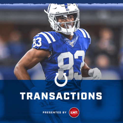 Colts Bring Back Wide Receiver Marcus Johnson