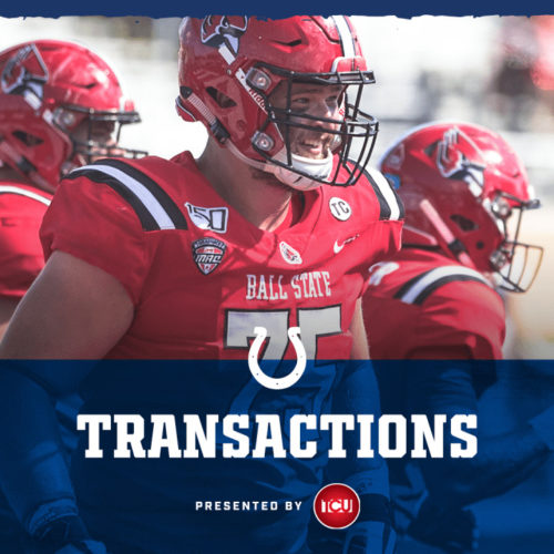 Colts Sign 2020 Fifth-Round Pick Danny Pinter