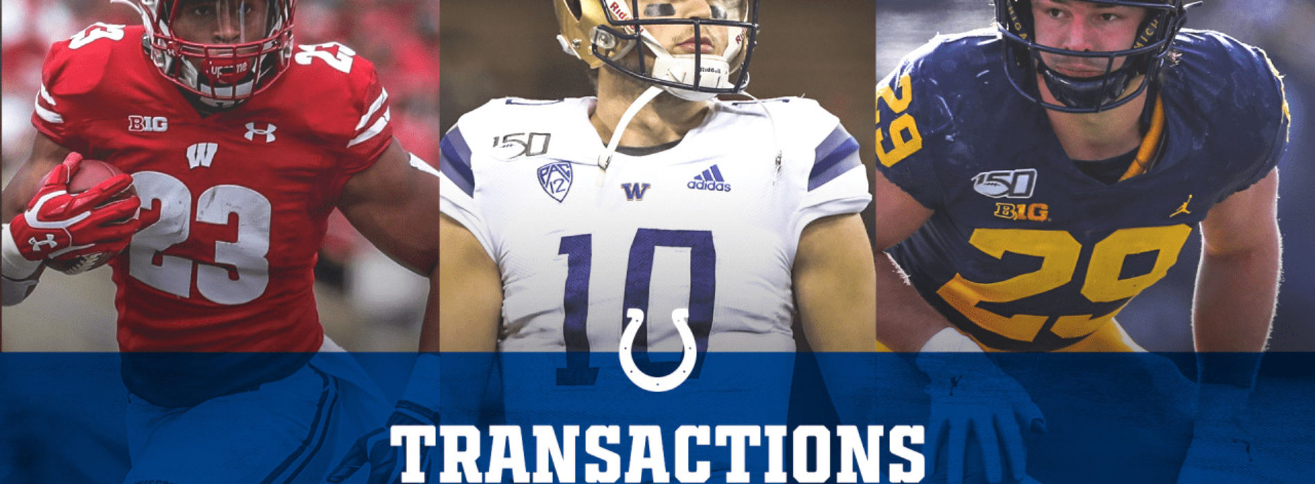 Colts Sign Three 2020 Draft Picks: Jonathan Taylor, Jacob Eason And Jordan Glasgow