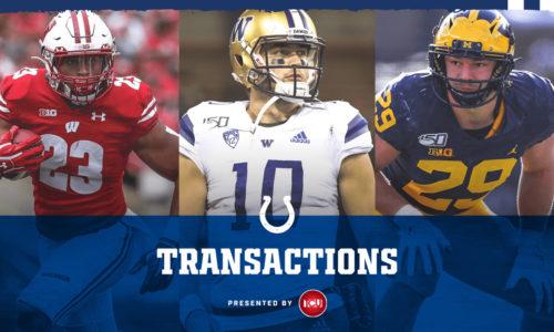 Colts Sign Three 2020 Draft Picks: Jonathan Taylor, Jacob Eason And Jordan Glasgow