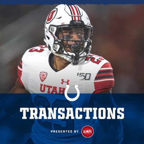 Colts Sign 2020 Third-Round Pick Julian Blackmon